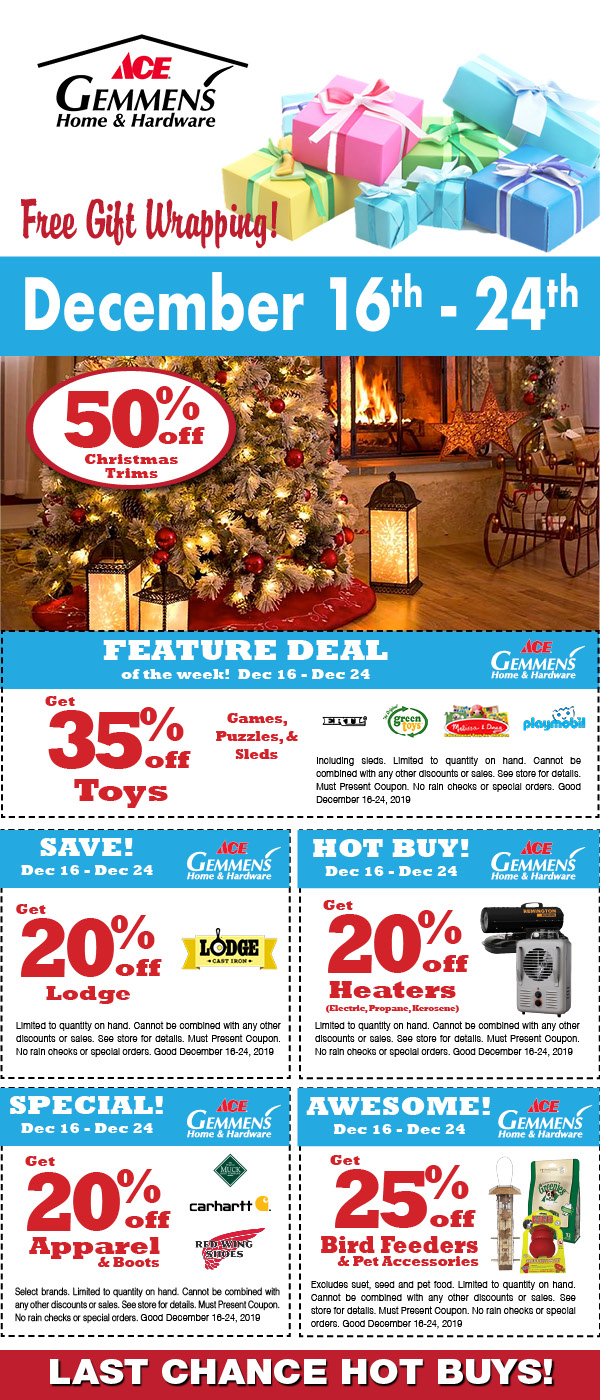 Promotions Coupons Gemmens Hardware Store